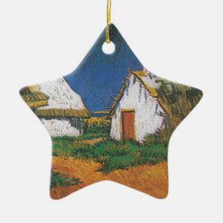 Van_Gogh_-_Drei_weiße_Hütten_in_Saintes-Maries Ornement Étoile En Céramique