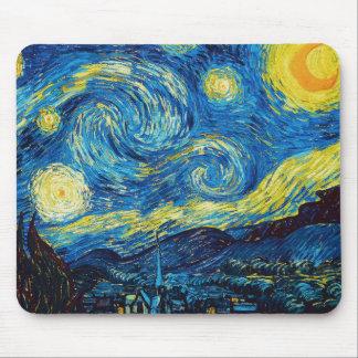 Van Gogh het Stootkussen van de Starry Muis van de Muismat