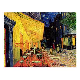 Van Gogh Het Terras van de koffie bij Nacht Vint Wenskaart