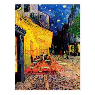 Van Gogh het Vintage Fijne Art. Cafe van het Terra Wenskaart