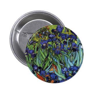 Van Gogh Irises Knoop Ronde Button 5,7 Cm