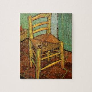 Van Gogh ; La chaise de Vincent avec le tuyau, art Puzzle