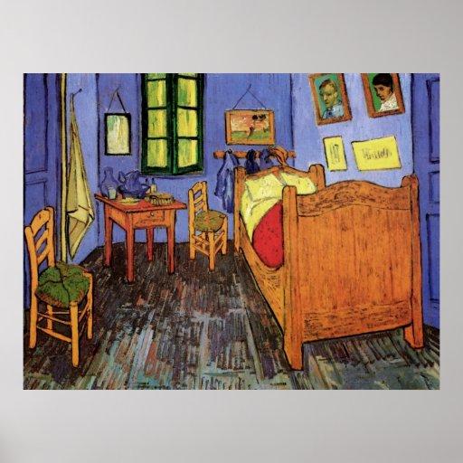 Van gogh la chambre coucher de vincent dans posters zazzle - La chambre a coucher van gogh ...