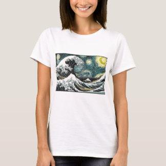 Van Gogh la nuit étoilée - Hokusai la grande vague T-shirt