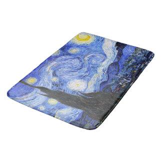 Van Gogh la nuit étoilée Tapis De Bain