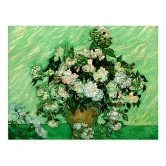 Van Gogh - roses blancs Carte Postale