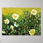 Van Gogh - roses sauvages, peinture florale de Van Poster
