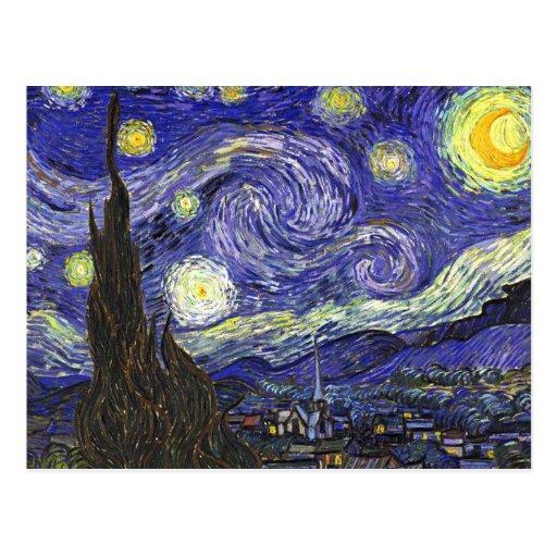 Van Gogh Starry Nacht Wenskaarten