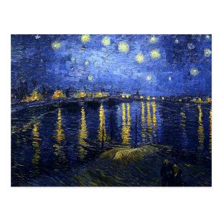 Van Gogh Starry Nacht over het Briefkaart van de R