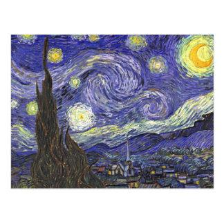 Van Gogh Starry Nacht, Vintage PostImpressionisme Wenskaart