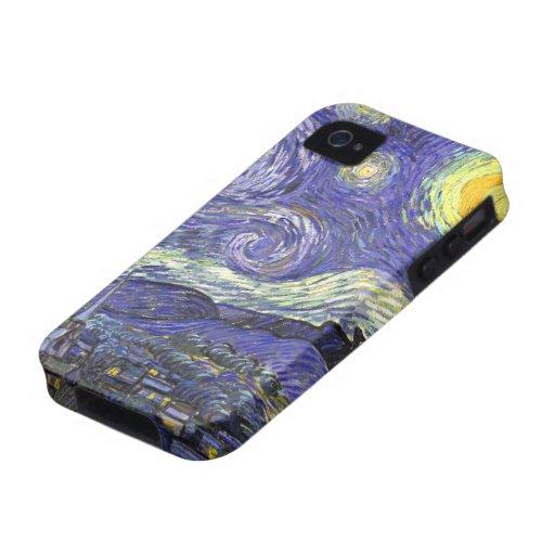 Van Gogh Starry Nacht, Vintage PostImpressionisme iPhone 4 Case