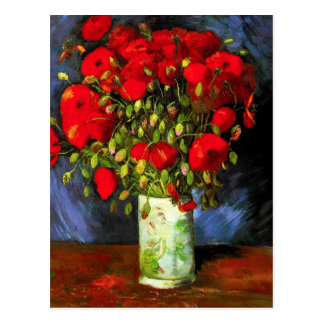 Van Gogh Vase met het Rode Briefkaart van Papavers