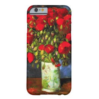 Van Gogh Vase met Rode iPhone 6 van Papavers geval Barely There iPhone 6 Case