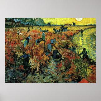 Van Gogh - vignobles rouges chez Arles