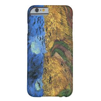 Van Gogh Wheatfield met iPhone 6 van Kraaien geval Barely There iPhone 6 Hoesje