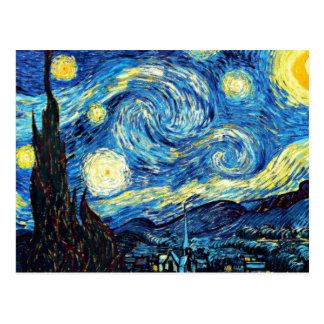 Van Gogh's het beroemde schilderen, Sterrige Nacht Briefkaart