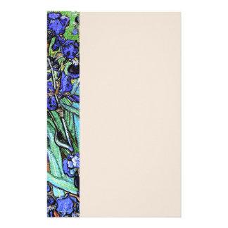 Van Goghs The irise la papeterie florale de fleurs