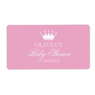 Van het de kroonbaby shower van de prinses de etiket