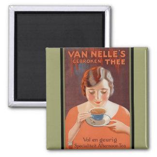 Van Nell's - Vintage Adverterene Thee Koelkast Magneetjes
