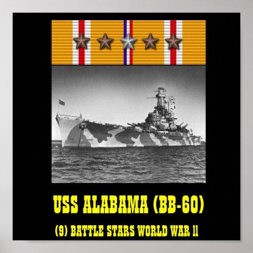 VAN USS ALABAMA (BB-60) HET POSTER