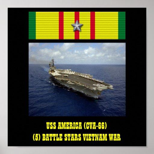VAN USS AMERIKA (CVA-66) HET POSTER