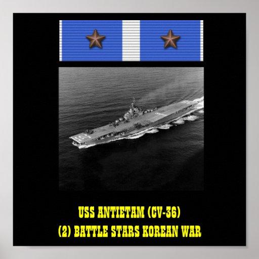 VAN USS ANTIETAM (CV-36) HET POSTER