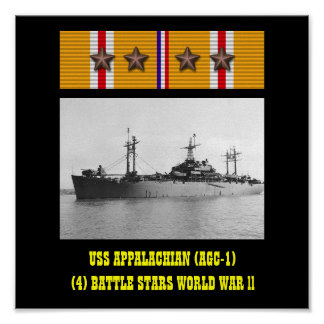 VAN USS APPALACHIAN (AGC-1) POSTER
