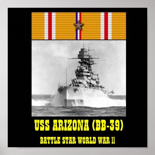 VAN USS ARIZONA (BB-39) HET POSTER