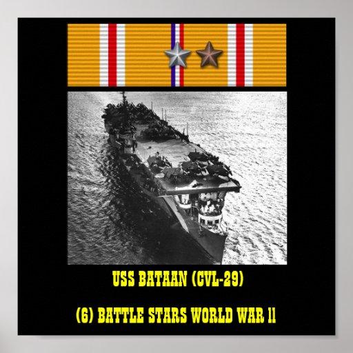VAN USS BATAAN (CVL-29) HET POSTER