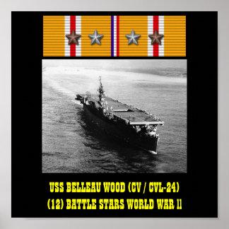 VAN USS BELLEAU HET HOUTEN (CV/CVL-24) POSTER