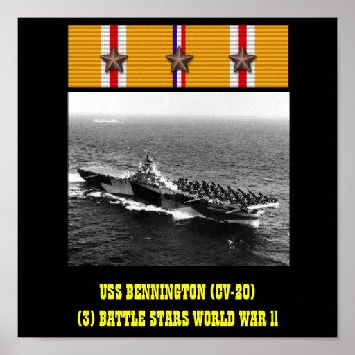 VAN USS BENNINGTON (CV-20) HET POSTER