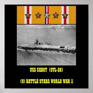VAN USS CABOT (CVL-28) HET POSTER