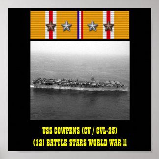 VAN USS COWPENS (CV/CVL-25) HET POSTER