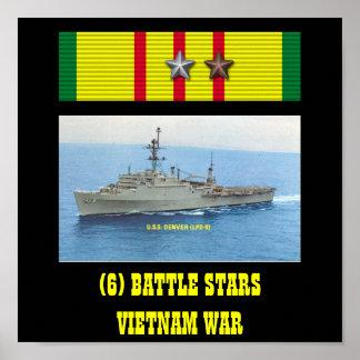 VAN USS DENVER (LPD-9) HET POSTER