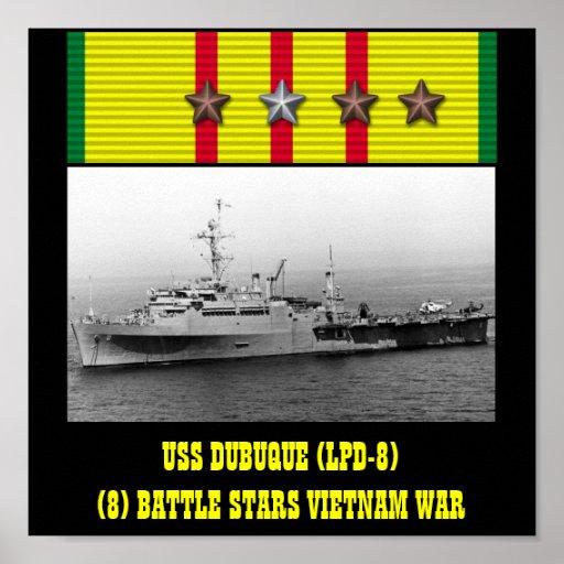 VAN USS DUBUQUE (LPD-8) HET POSTER
