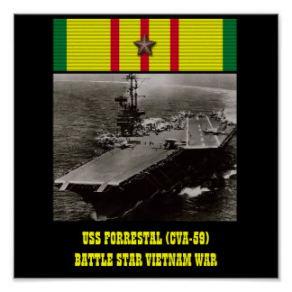 VAN USS FORRESTAL (CVA-59) HET POSTER