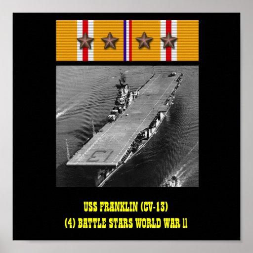 VAN USS FRANKLIN (CV-13) HET POSTER