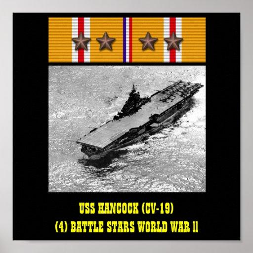 VAN USS HANCOCK (CV-19) HET POSTER