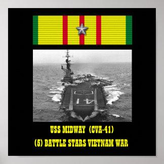 VAN USS HET CENTRALE (CVA-41) POSTER
