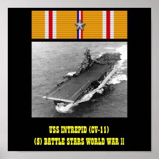 VAN USS HET ONVERSAAGDE (CV-11) POSTER