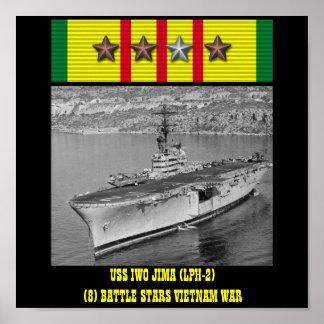 VAN USS IWO JIMA (LPH-2) HET POSTER