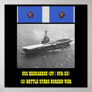 VAN USS KEARSARGE (CV/CVA-33) HET POSTER