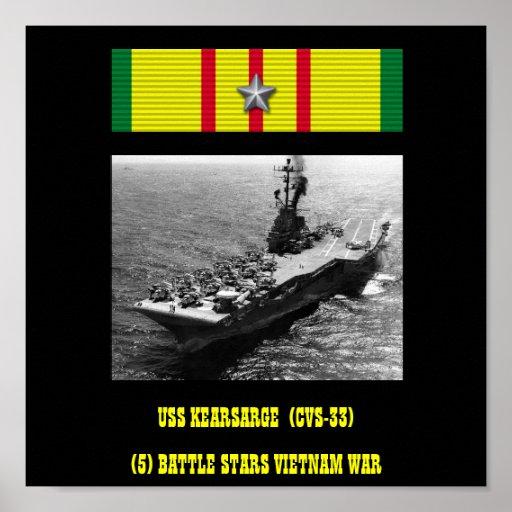 VAN USS KEARSARGE (CVS-33)   HET POSTER