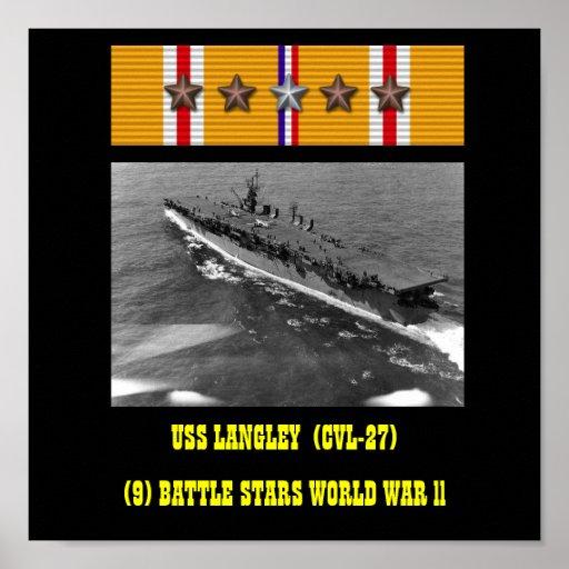 VAN USS LANGLEY (CVL-27) HET POSTER