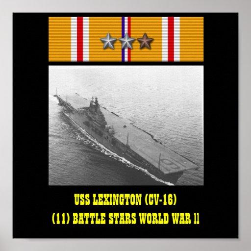 VAN USS LEXINGTON (CV-16) HET POSTER
