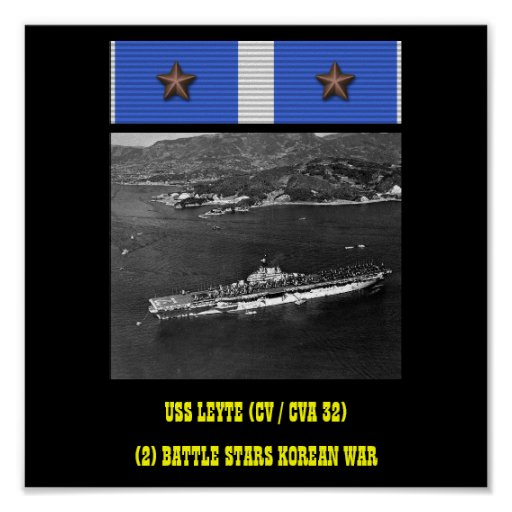 VAN USS LEYTE (CV/CVA 32) HET POSTER
