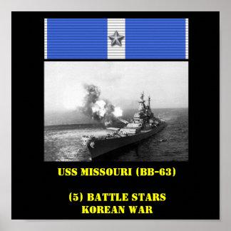 VAN USS MISSOURI (BB-63) HET POSTER