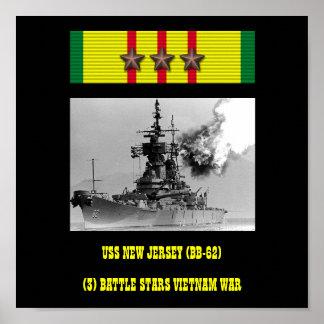 VAN USS NEW JERSEY (BB-62) HET POSTER