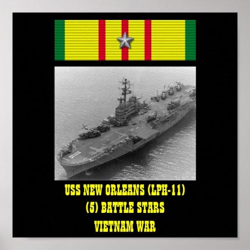 VAN USS NEW ORLEANS (LPH-11) HET POSTER