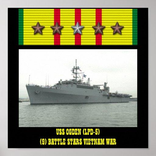 VAN USS OGDEN (LPD-5) HET POSTER